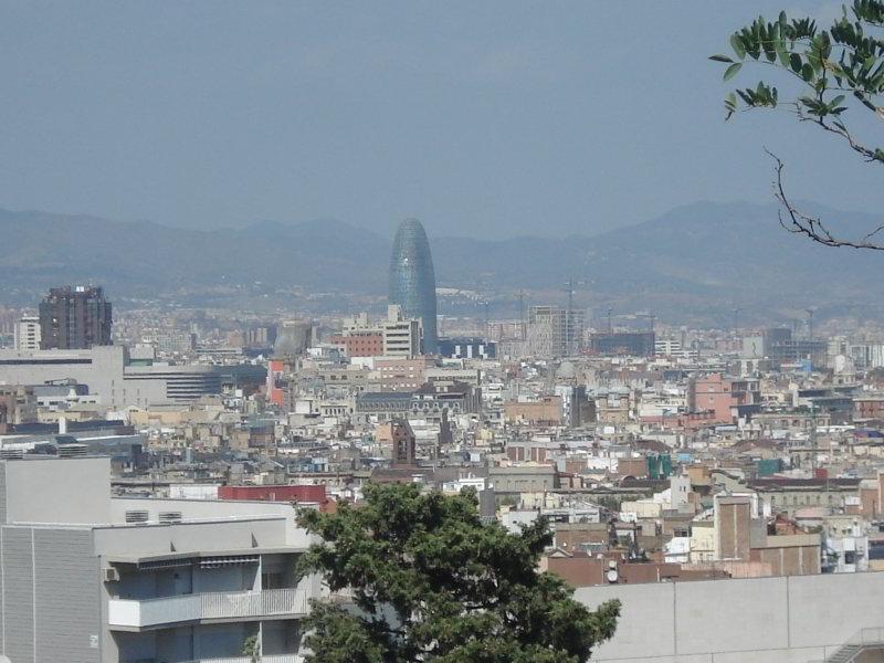 Torre Agbar desde el MNAC
