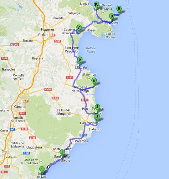 Costa Brava Espana Mapa.Viajar A Barcelona Conocer La Costa Brava