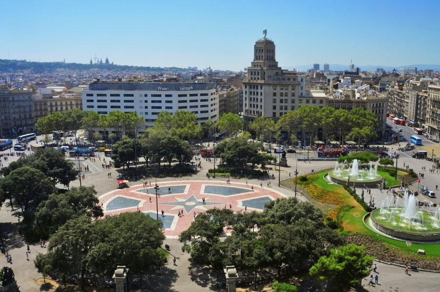 Plaça Catalunya, centro de Barcelona