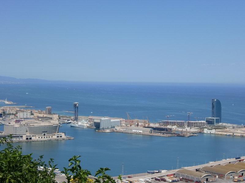Vista del Puerto desde el Castillo de Montjuïcq
