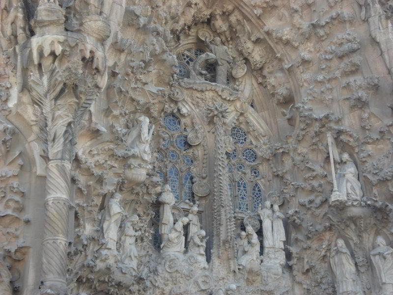 Sagrada Familia, detalle de la fachada del Nacimiento