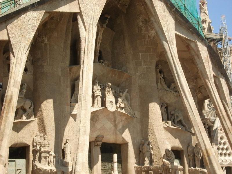 Sagrada Familia detalle de la fachada de la Pasión