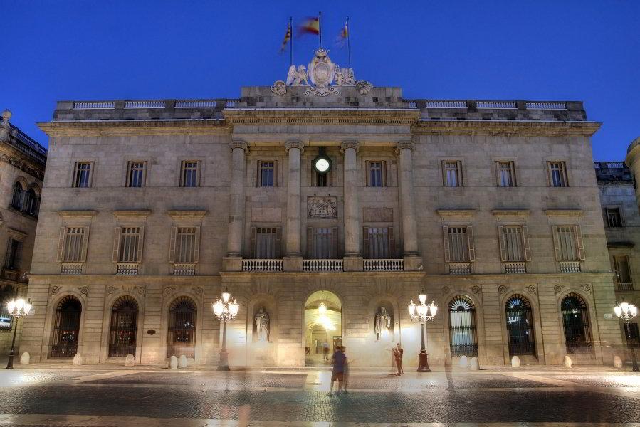 Ayuntamiento en la Plaça Sant Jaume