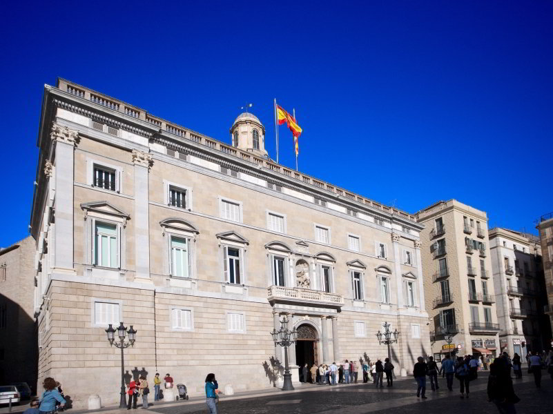 Palau de la Generalitat en la Plaça Sant Jaume