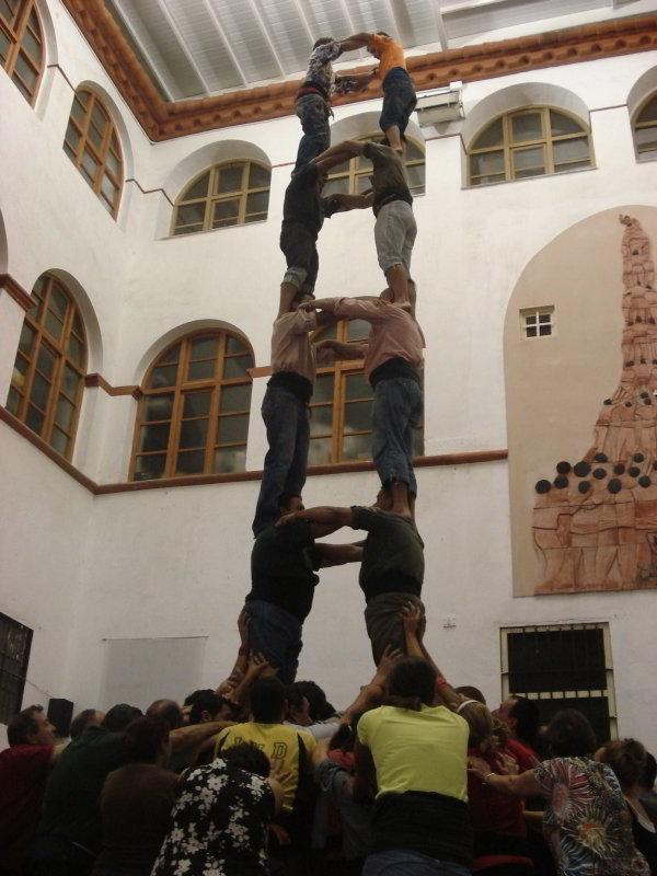 Ensayos de La Colla de Xiquets de Tarragona