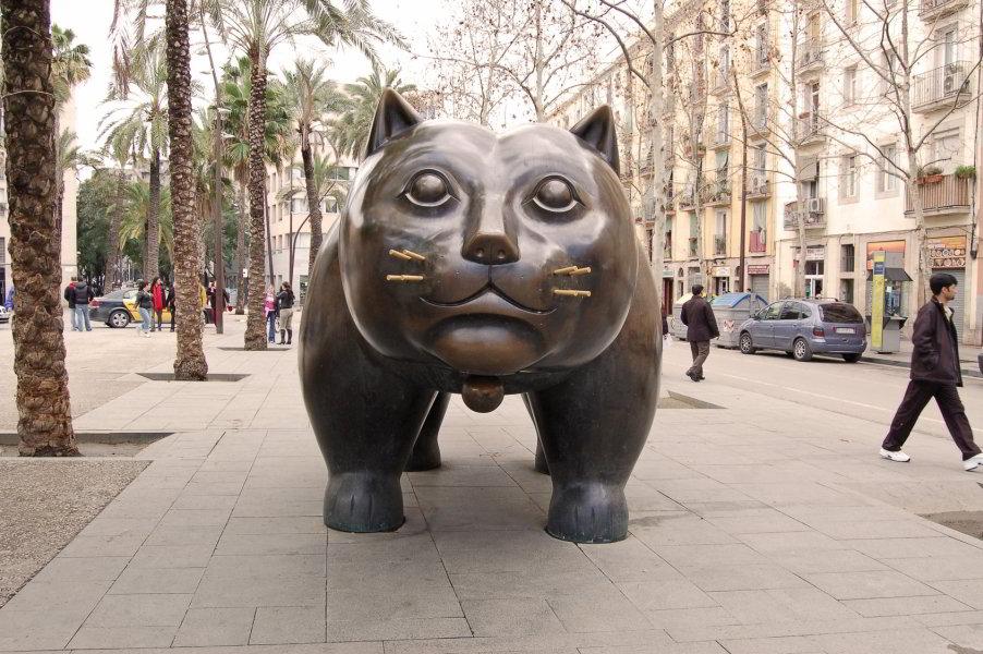 Gato de Botero en la Rambla del Raval
