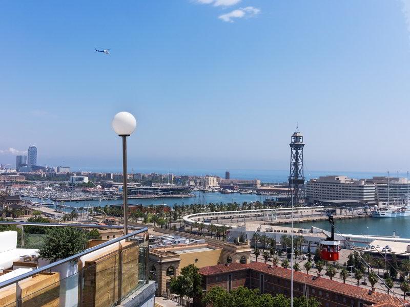Viaje en helicóptero sobre Barcelona