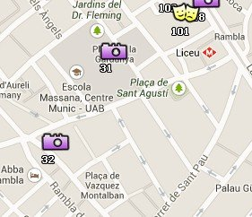 Situación del Antic Hospital de la Santa Creu en el Mapa de Barcelona