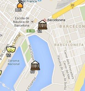 Situación del Aquàrium en el Mapa de Barcelona