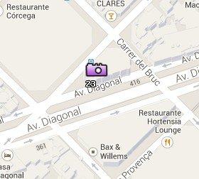 Situación de la Casa de les Punxes en el Mapa de Barcelona