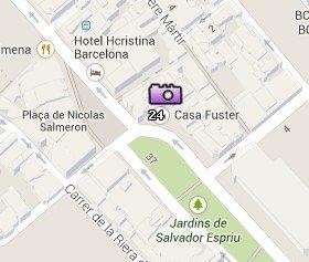 Situación de la Casa Fuster en el Mapa de Barcelona