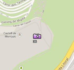 Situación del Castillo de Montjuïc en el Mapa de Barcelona