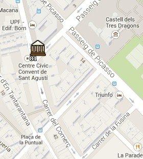 Situación del Museo del Chocolate en el Mapa de Barcelona