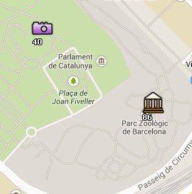 Situación del Parc de la Ciutadella en el Mapa de Barcelona