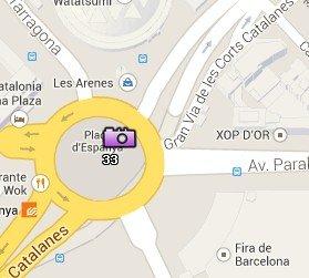 Situación de Plaça Espanya en el Mapa de Barcelona