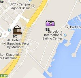 Situación del Fòrum en el Mapa de Barcelona