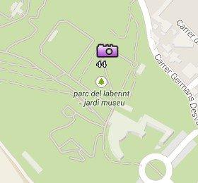 Situación del Parc del Laberint en el Mapa de Barcelona