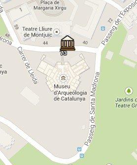 Situación del Museo de Arqueología de Catalunya