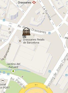 Situación del Museo Marítimo en el Mapa de Barcelona