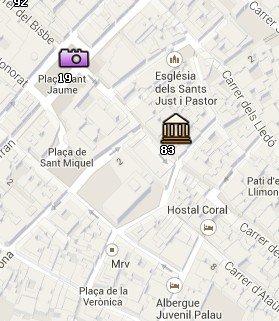 Situación del miBa en el Mapa de Barcelona