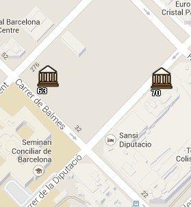 Situación del MMCAT en el Mapa de Barcelona