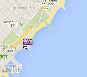 Situación de las Playas de Barcelona en el Mapa