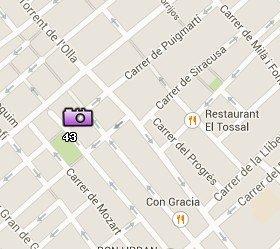 Situación de las Plazas de Gracia en el Mapa de Barcelona