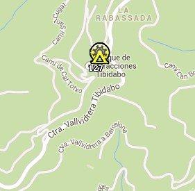 Situación del Tibidabo en el Mapa de Barcelona