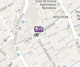 Situación de la Casa Vicens en el Mapa de Barcelona