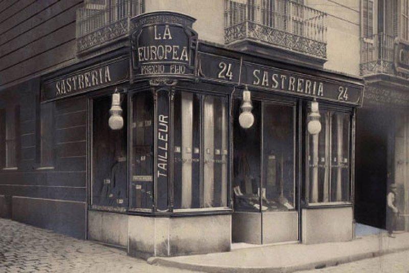 Antigua tienda en la Calle Portal de l'Àngel 6