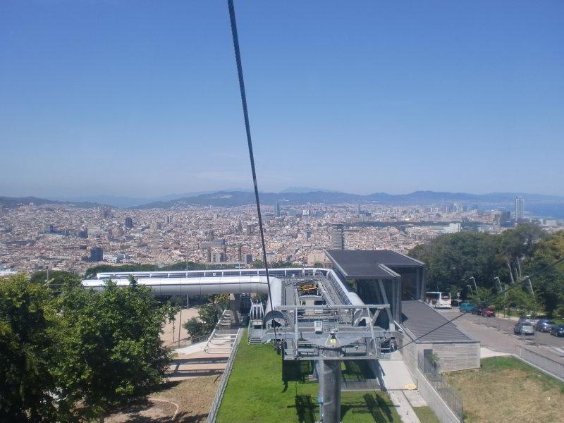 Vista desde el Teleférico de Montjuïc