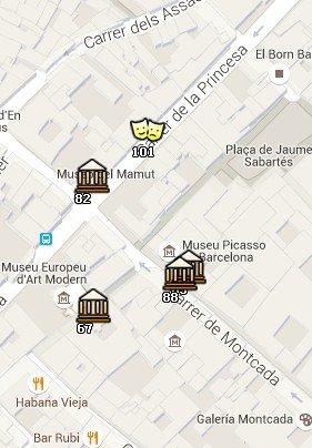 Situación del MCMB en el Mapa de Barcelona